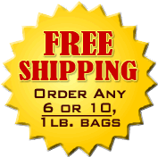Free Shipping on 6 lbs. or more